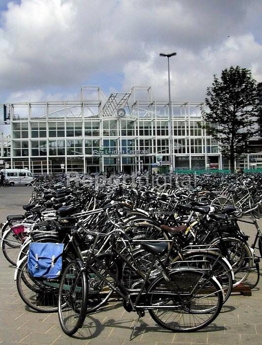 Bicycle parking at Leiden, Netherlands - David Bocking - 2001-06-01