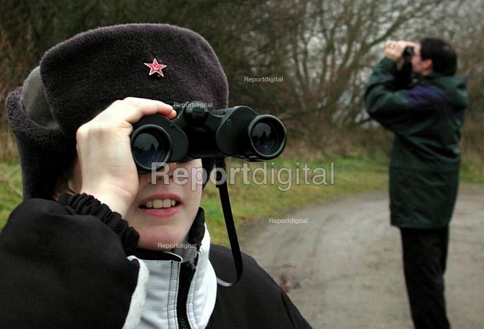 Guided birdwatching walk on Wadsley Common, Sheffield - David Bocking - 2002-01-13