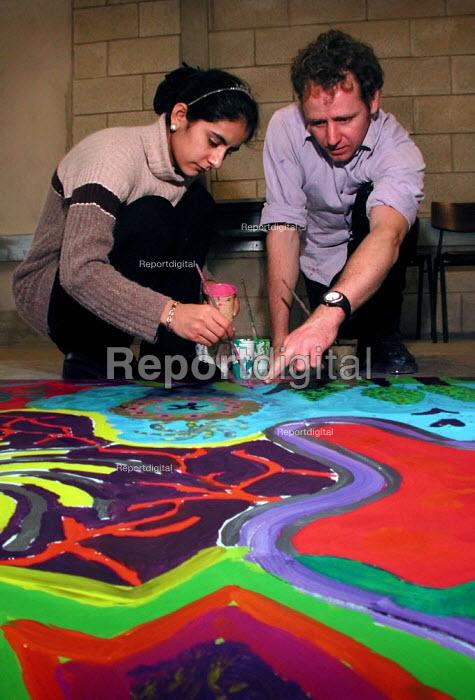 Art lesson at Yorkshire Arts Space, Sheffield - David Bocking - 2002-01-26