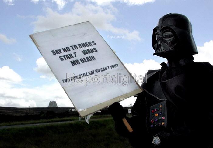 CND anti Star Wars demonstration at Fylingdales RAF base on 15th June 2002 - David Bocking - 2002-06-15