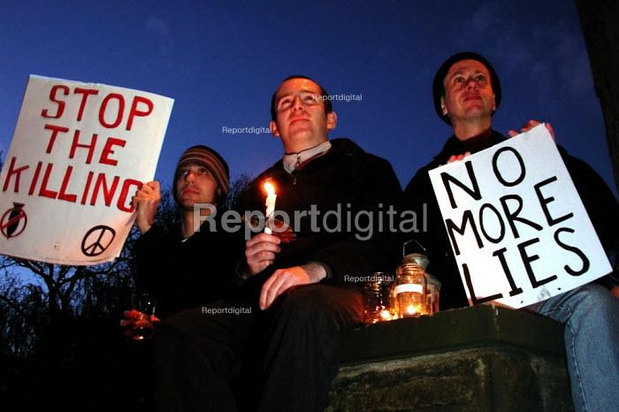 Vigil for Peace in Sheffield - David Bocking - 2003-04-02