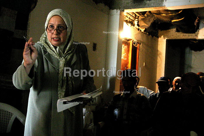 Hashimia Muhsin Hussein, President of the Electricity and Energy Union in Basra - the first woman trade union leader in Iraqs history. Her union is affiliated with the Iraqi Federation of Trade Unions. - David Bacon - 2005-05-26