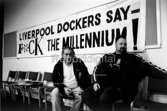 """K Foundation"" event during the two and a half year long dock dispute during which 400 dockers were sacked for refusing to cross a picket line, during which time the strike remained unofficial (TGWU) and the picket secondary. Liverpool Docks ... - David Sinclair - 1997-08-12"