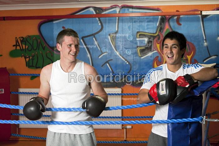 Unemployed youth at the Gurnos Boxing Club, Gurnos Estate in Merthyr Tydfil. Merthyr Tydfil has very high levels of unemployment - David Mansell - 2010-11-09