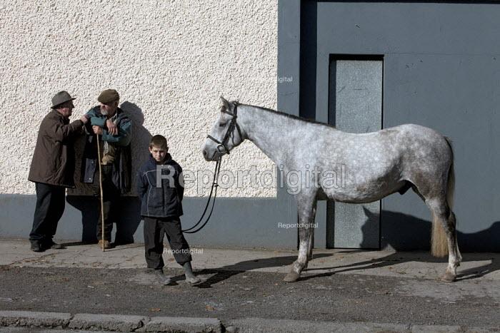 Boy selling a horse, Country Fair Day, The Ballinasloe Horse Fair, County Galway, Ireland - David Mansell - 2012-10-06
