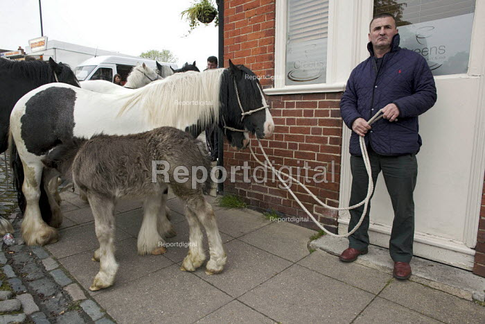 Annual Horse Fair, Wickham, Hampshire, Tom Dooly world famous breeder of the Miniature Gypsy Cob - David Mansell - 2012-05-21