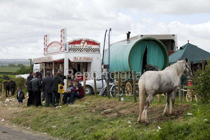 Appleby Horse Fair, Cumbria, The Classic Cafe marks the start of Flashing Lane - David Mansell - 2015-06-07