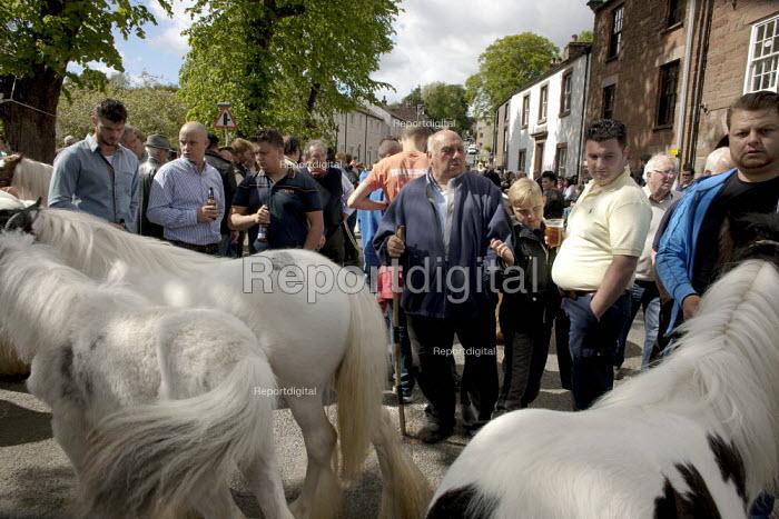 Appleby Horse Fair, Cumbria, Uncle John Vine horse dealing along the Sands - David Mansell - 2015-06-07
