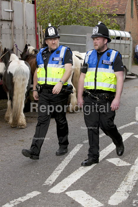 Wickham Horse Fair a traditional one day annual event, Hampshire. Police on patrol. - David Mansell - 2015-05-20
