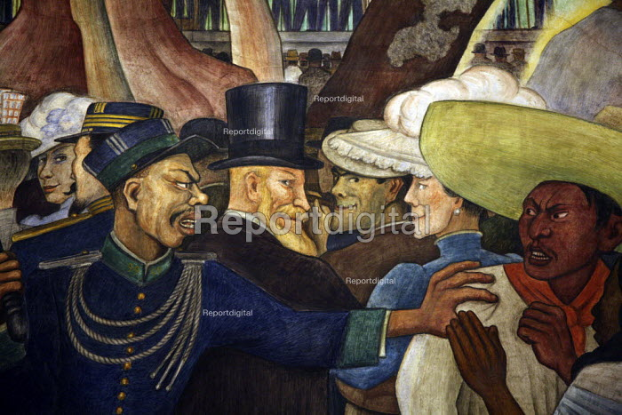 A section of the mural Sunday in Alameda Park by Diego Rivera. - David Bacon - 2008-11-14