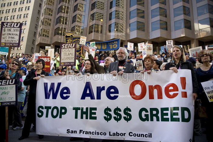 Union members march through downtown San Francisco to... - David Bacon, DNB1104sf09.jpg