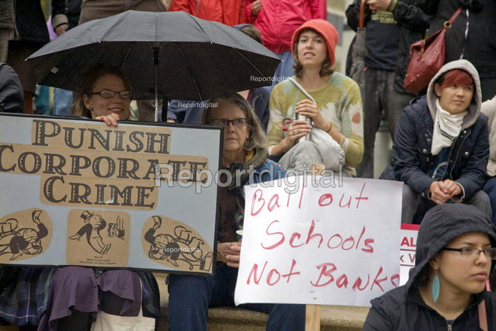Oakland, California. Punish Cororate Crime, Bailout the... - David Bacon, DNB1110ak04.jpg