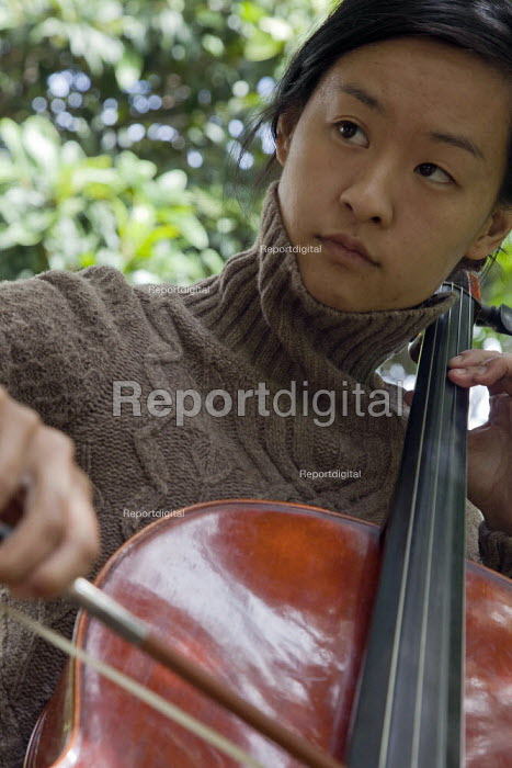 Vanessa Huang, a poet, activist and cellist, performs... - David Bacon, DNB1206pm021.jpg