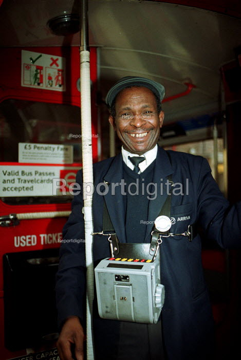 London Bus Conductor - Duncan Phillips - 2002-01-31