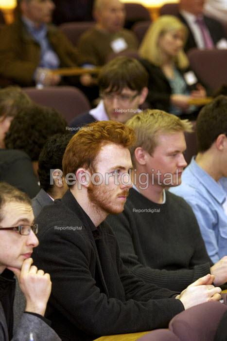 Students attending a public lecture Cass Business school , London - Duncan Phillips - 2011-02-23