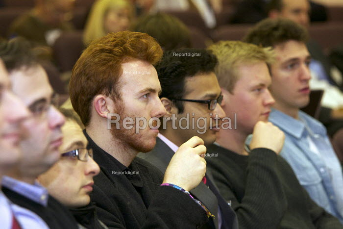Students attending a public lecture Cass Business school , London - Duncan Phillips - 2011-02-23