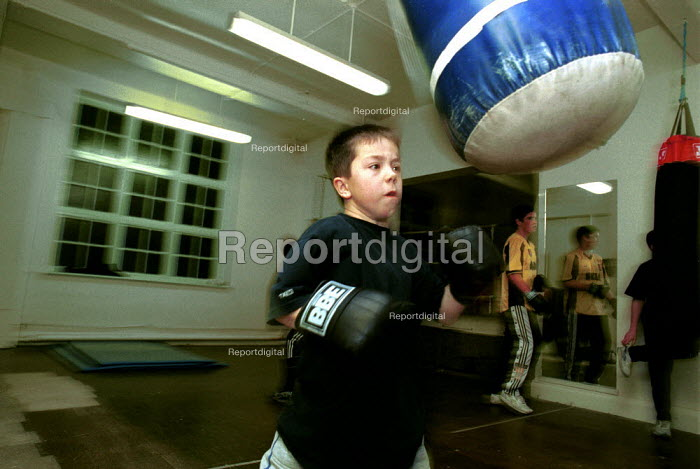 Boxing training at Boxing Gym islington London - Duncan Phillips - 2000-11-15