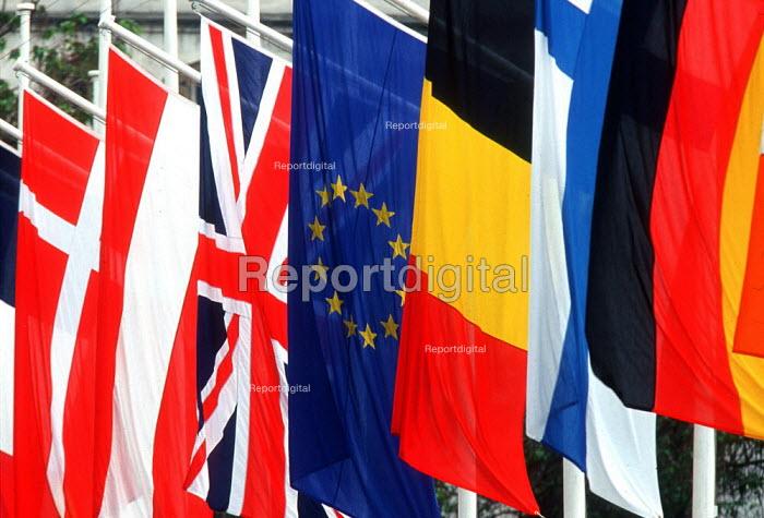 European Union Flags - London - Duncan Phillips - 2003-06-30