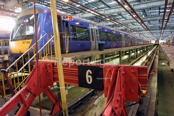 Train Cleaning and mechanical maintenance Depot. East Ham Depot, London. - Duncan Phillips - 2003-01-23