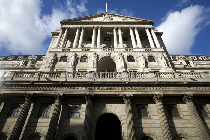 The Bank of England in the city of London financial district. - Duncan Phillips - 2008-10-22
