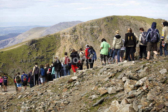 School pupils on a trip to Mount Snowdon, North Wales - Duncan Phillips - 2011-08-03