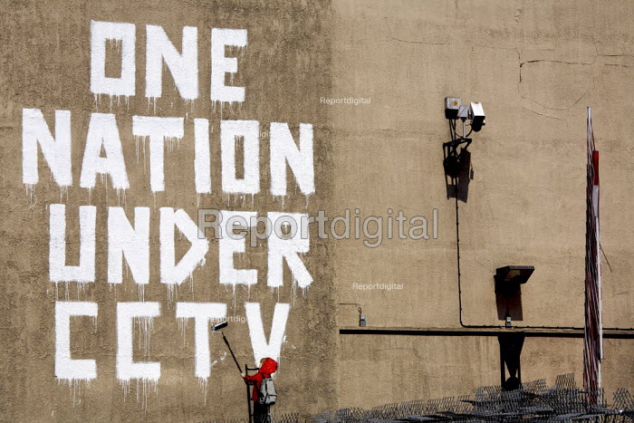 One Nation Under CCTV, by graffiti artist Banksy, London. - Duncan Phillips - 2008-05-08