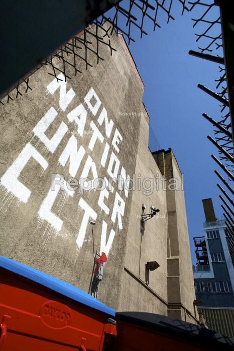 One Nation Under CCTV, by graffiti artist Banksy, London. - Duncan Phillips - 2008-05-08