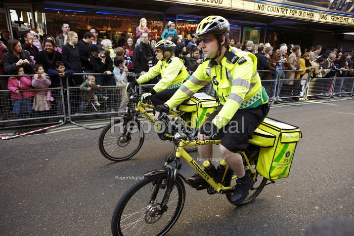 St John Ambulance Cycle response unit. Chinese new year celebrations , London. - Duncan Phillips - 2008-02-10