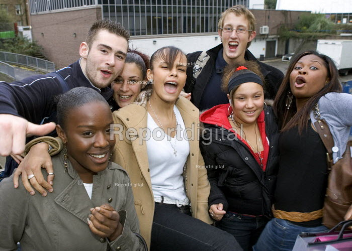 Group of happy young adults - Duncan Phillips - 2005-11-15