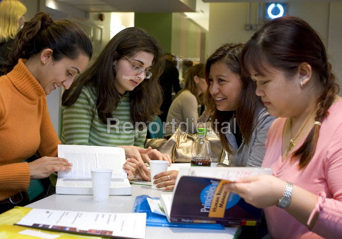 students studying in a college canteen - Duncan Phillips - 2005-11-15