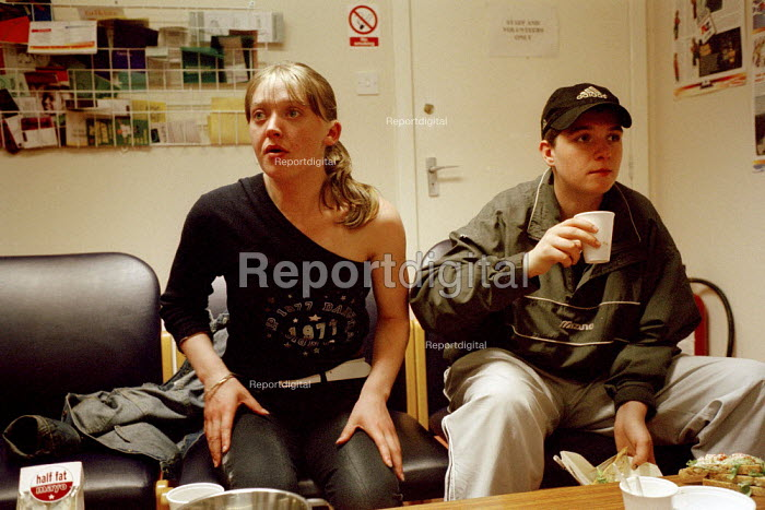 Homeless young women in Glasgow being counselled at the City Mission Glasgow. - Gerry McCann - 2002-07-22