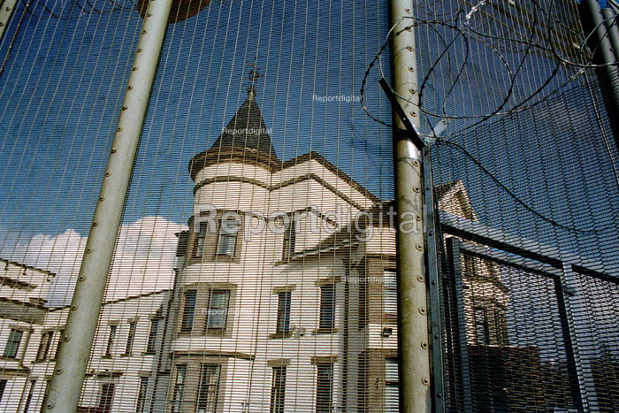 Dungavel Prison near Strathaven in Scotland. The privately run prison is being used as a detention centre for asylum seekers. - Gerry McCann - 2002-03-17