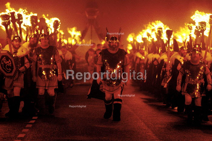 Shetlanders celebrate their Viking heritage at the Up Helly Aa festival, held every year in January. - Gerry McCann - 2000-01-11