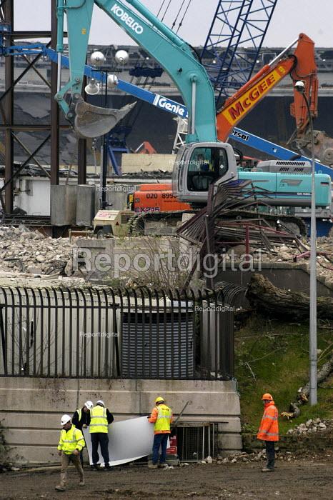 Demolition workers at Wembley Stadium, December 2002 - Geoff Crawford - 2002-12-06
