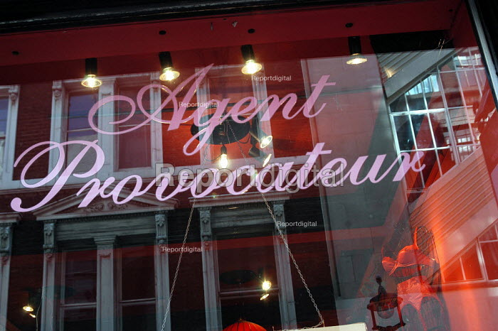 Agent Provocateur shop front in Soho London, UK. - Geoff Crawford - 2003-04-03