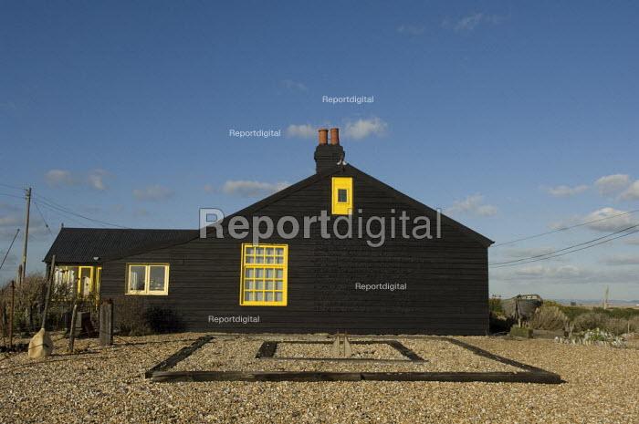 Inscription on the side of Prospect Cottage, Derek Jarman's house & garden, Dungeness, Kent, UK - Geoff Crawford - 2008-01-30
