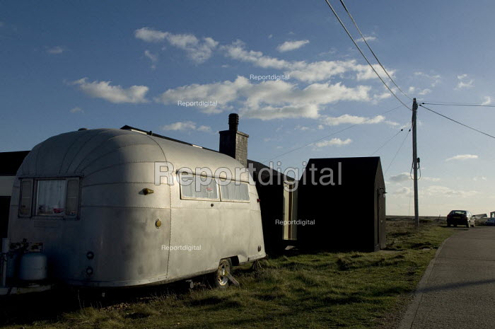 Airstream American style vintage caravan, Dungeness, Kent, UK - Geoff Crawford - 2008-01-30