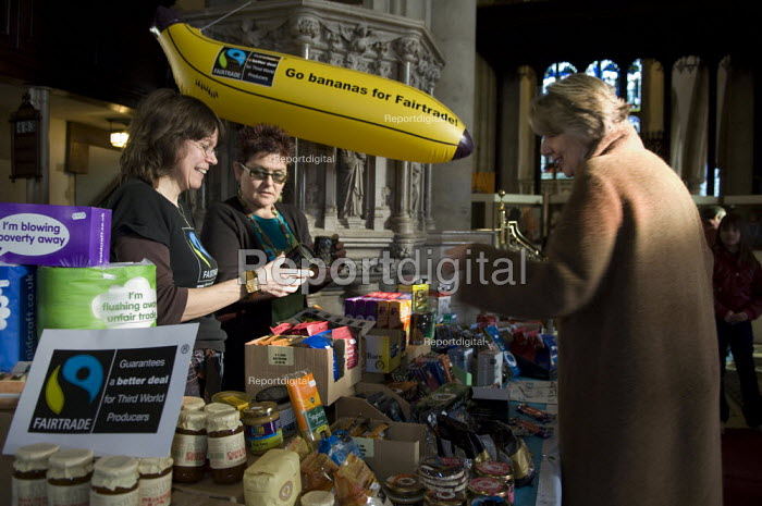 Buying fairtrade goods at St Mary the Virgin church, in Ashford, Kent - Geoff Crawford - 2008-02-09
