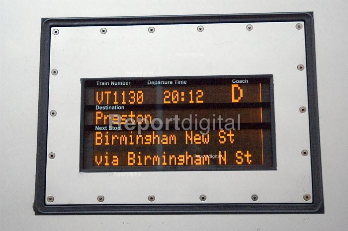 Information panel on Virgin train - Graham Howard - 2006-05-12