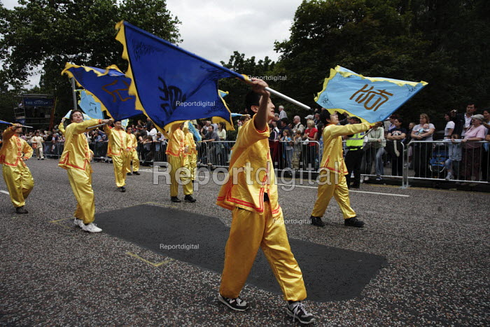 Members of the Chinese Falun Gong sect take part in the parade to mark the start of the Edinburgh Festival. - Gerry McCann - 2006-08-06