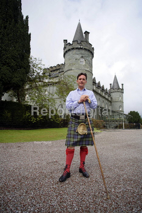Torquhil Ian Campbell otherwise known as the Duke of Argyll, wearing a kilt at Inverary Castle, Argyll, Scotland. - Gerry McCann - 2006-05-19