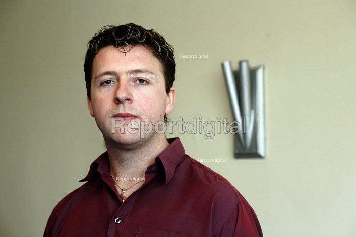 Social Worker Hugh Torrance in his office in Kilmarnock. - Gerry McCann - 2006-04-26