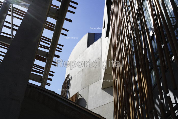 Above the entrance to the Scottish Parliament building, at the bottom of Edinburgh's Royal Mile. - Gerry McCann - 2006-06-03