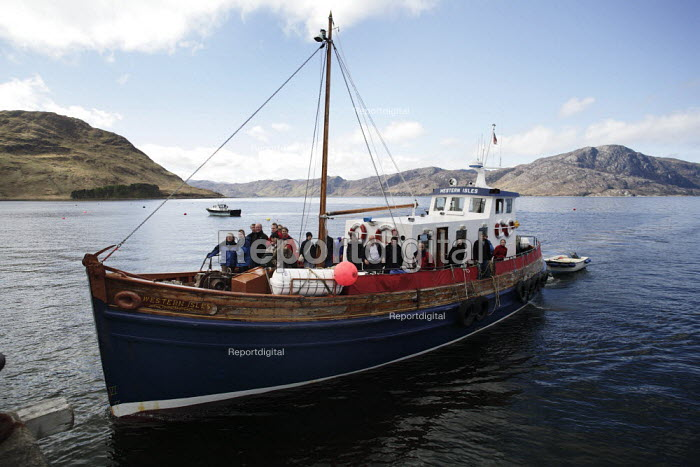 The main transport from Mallaig to the Knoydart Peninsula in North-West Scotland is by the Western Isles which is also the post boat. - Gerry McCann - 2006-05-03