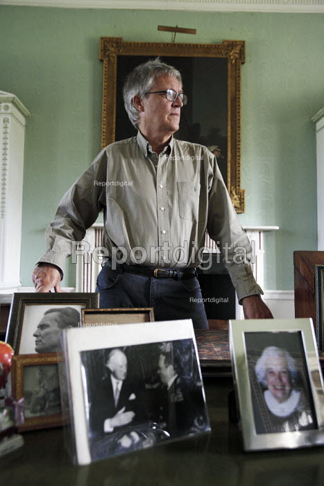 Sir Charles Maclean at his home in Strachur, Argyll, Scotland. Sir Charles is the author of books such as The Wolf Children and The Silence. He is the son of Sir Fitzroy Maclean, founder, with David Stirling, of the SAS. - Gerry McCann - 2006-09-04