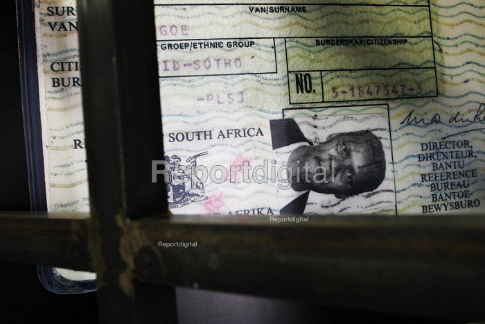 Non-white passes in the Apartheid Museum in Johannesburg, South Africa. - Gerry McCann - 2005-04-20