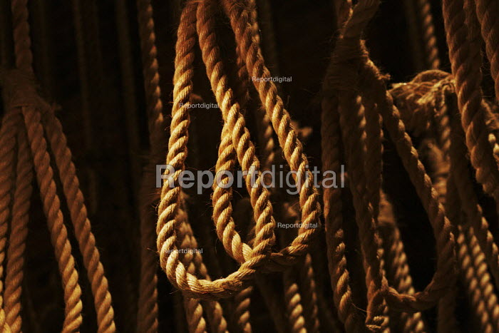 Nooses used to hang activists in the Apartheid Museum in Johannesburg, South Africa. - Gerry McCann - 2000-01-01