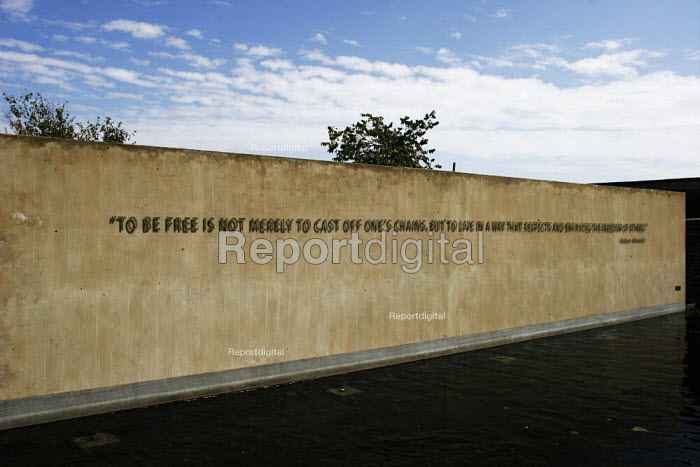 A quotation from Nelson Mandela on the entrance wall, to the Apartheid Museum in Johannesburg, South Africa. - Gerry McCann - 2005-04-20