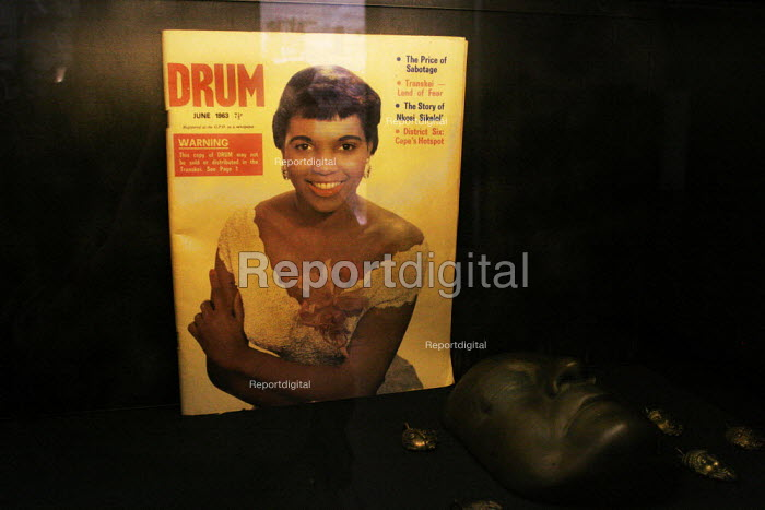Archive copy of Drum magazine on display in the Apartheid Museum in Johannesburg, South Africa. - Gerry McCann - 2005-04-20