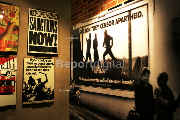 Archive images in the Apartheid Museum in Johannesburg, South Africa. - Gerry McCann - 2005-04-20